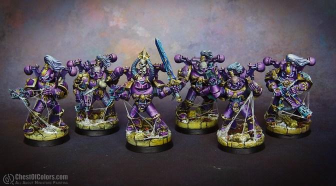 Emperor's Children squad hails Slaanesh!
