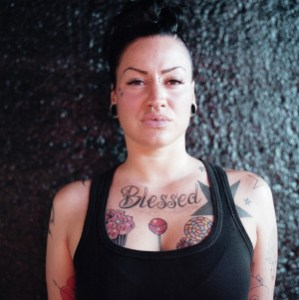 chest tattoo women hot design