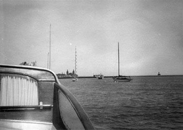 He instigated the Commodore's Fleet Review. A photo from the first review on 9 July 1946.
