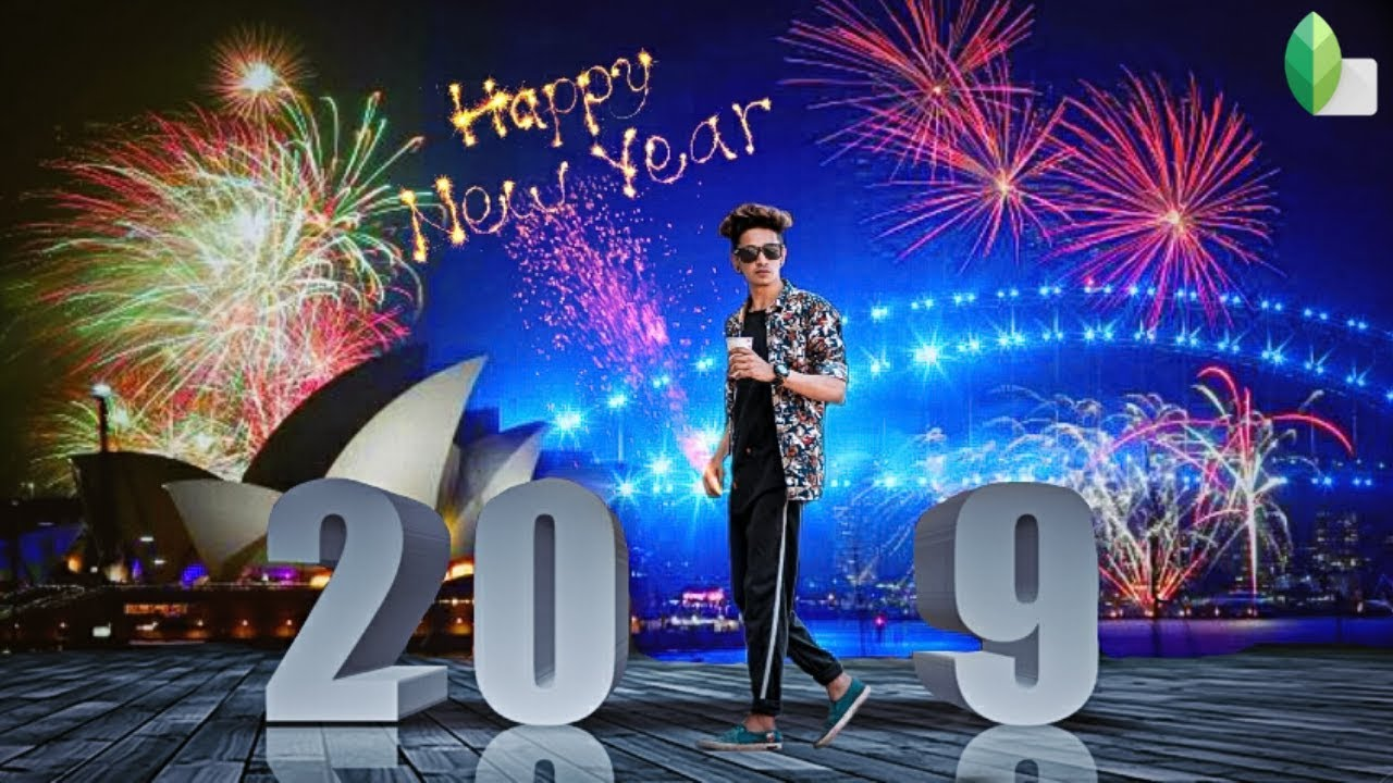 Snapseed Happy New Year 2019 Editing Background Png Download