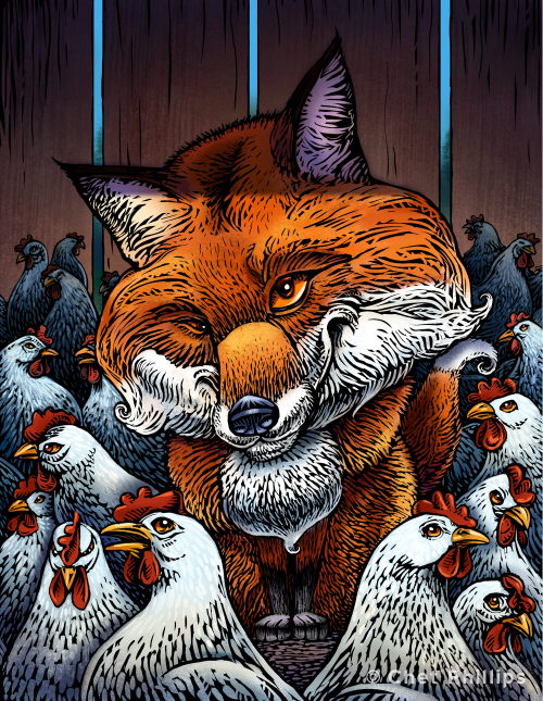 Image result for fox guarding the henhouse