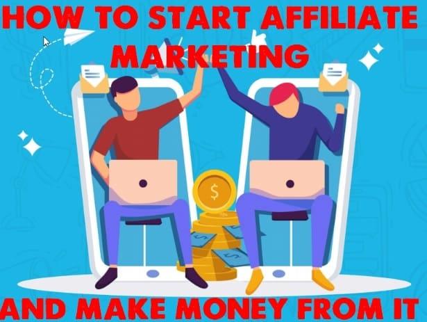 start affiliate marketing for beginners and make money