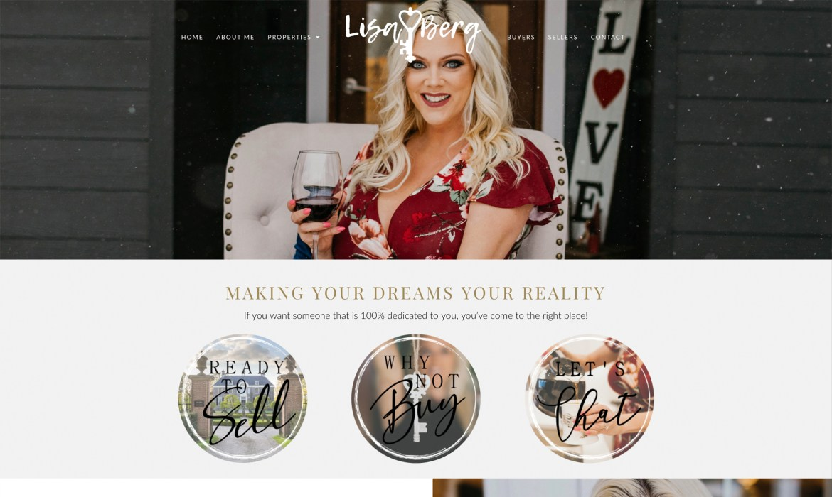 Lisa Berg Real Estate Website Design and Development