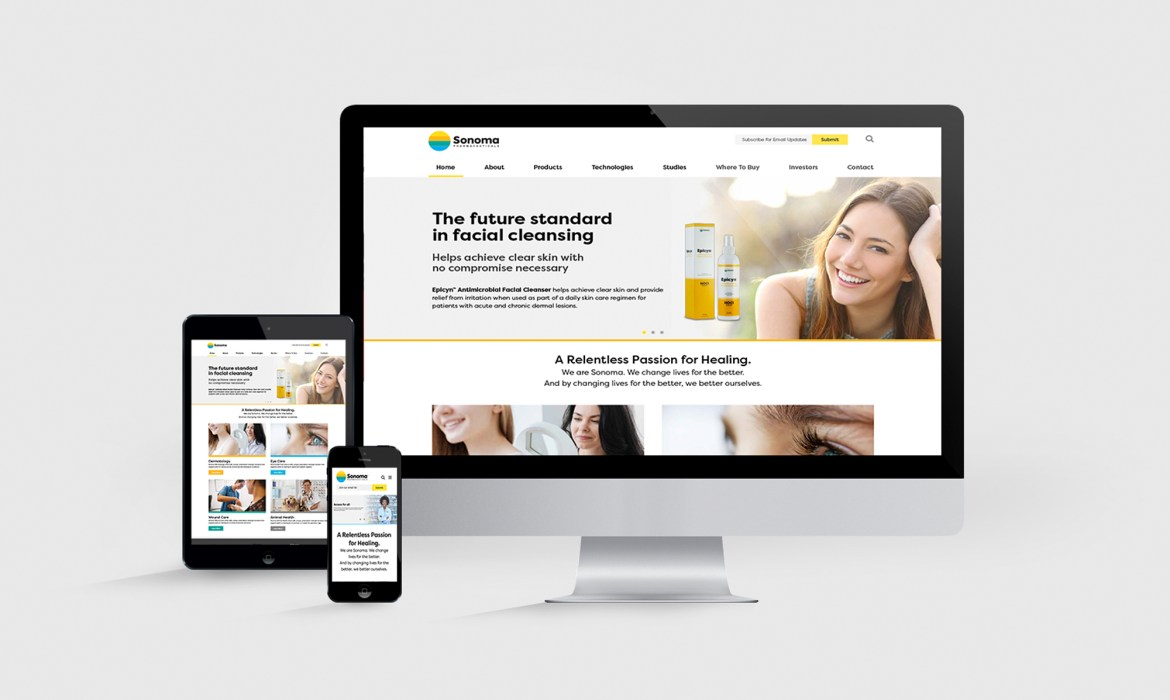 Sonoma Pharmaceuticals Website Design and Development