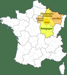 Zone d'intervention : Champagne-Ardennes, Champagne Ardennes en Lorraine, en Bourgogne et en Seine-et-Marne