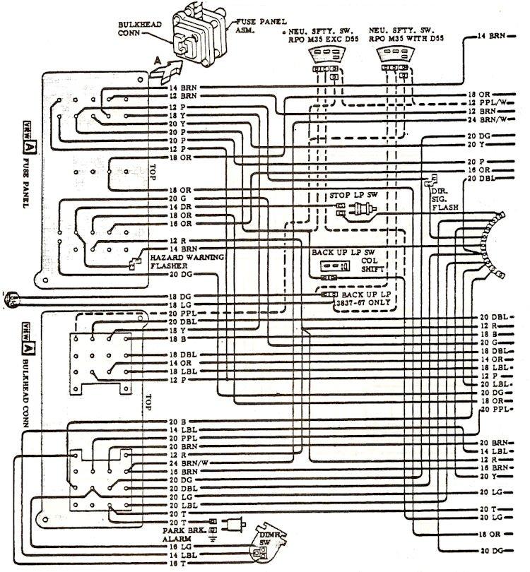 chevelle wiring diagram nissan primera p12 audio 1968 diagrams