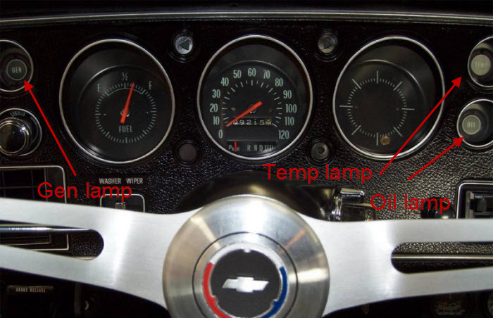 Ford 1700 Wiring Diagram Ss Dash Oil Pressure Gauge Chevelle Tech