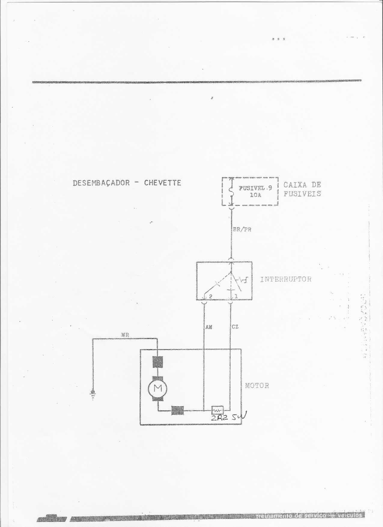 Esquemas elétricos do Chevette