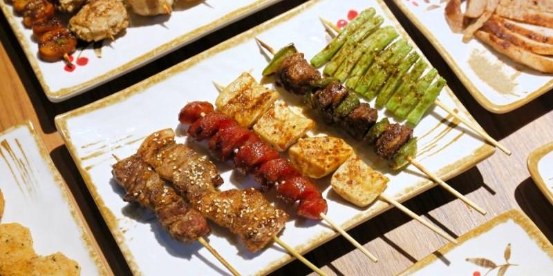 台中平價串燒推薦,神串串燒獨門醬汁一吃就上癮!上百種串燒啾西又涮嘴!