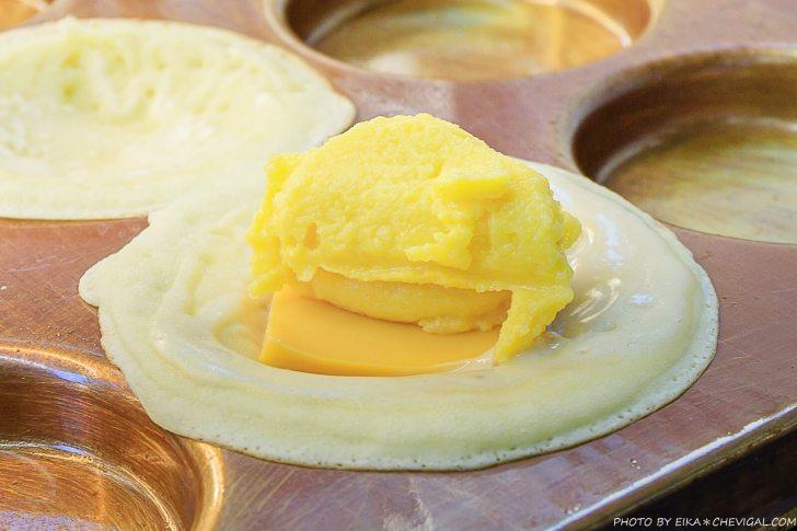 20201019200858 37 - 熱血採訪│這是車輪餅,多達40種口味鹹甜通通有!起司蛋口味就像迷你滿福堡,還有可可布朗尼奶油車輪餅螞蟻控最愛