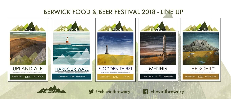 Bewrick beer fest line up logos