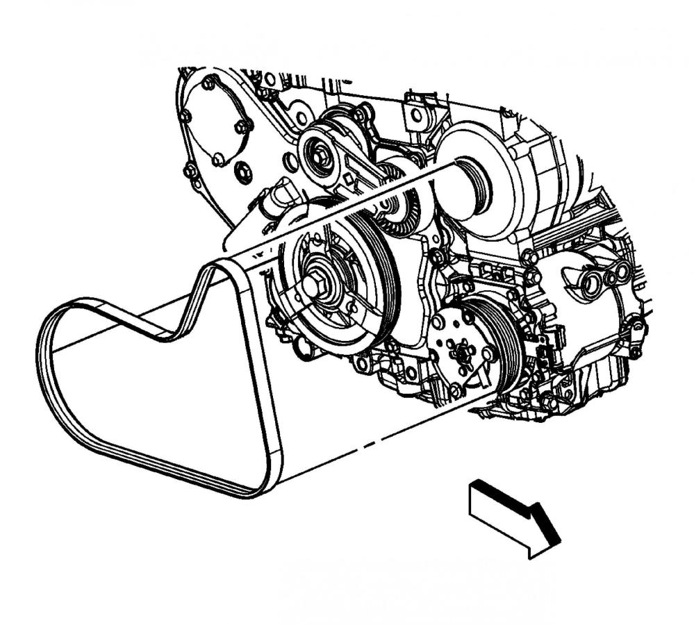 medium resolution of chevy 2 4 engine serpentine belt diagram wiring diagrams bib chevrolet 3 4 engine serpentine belt