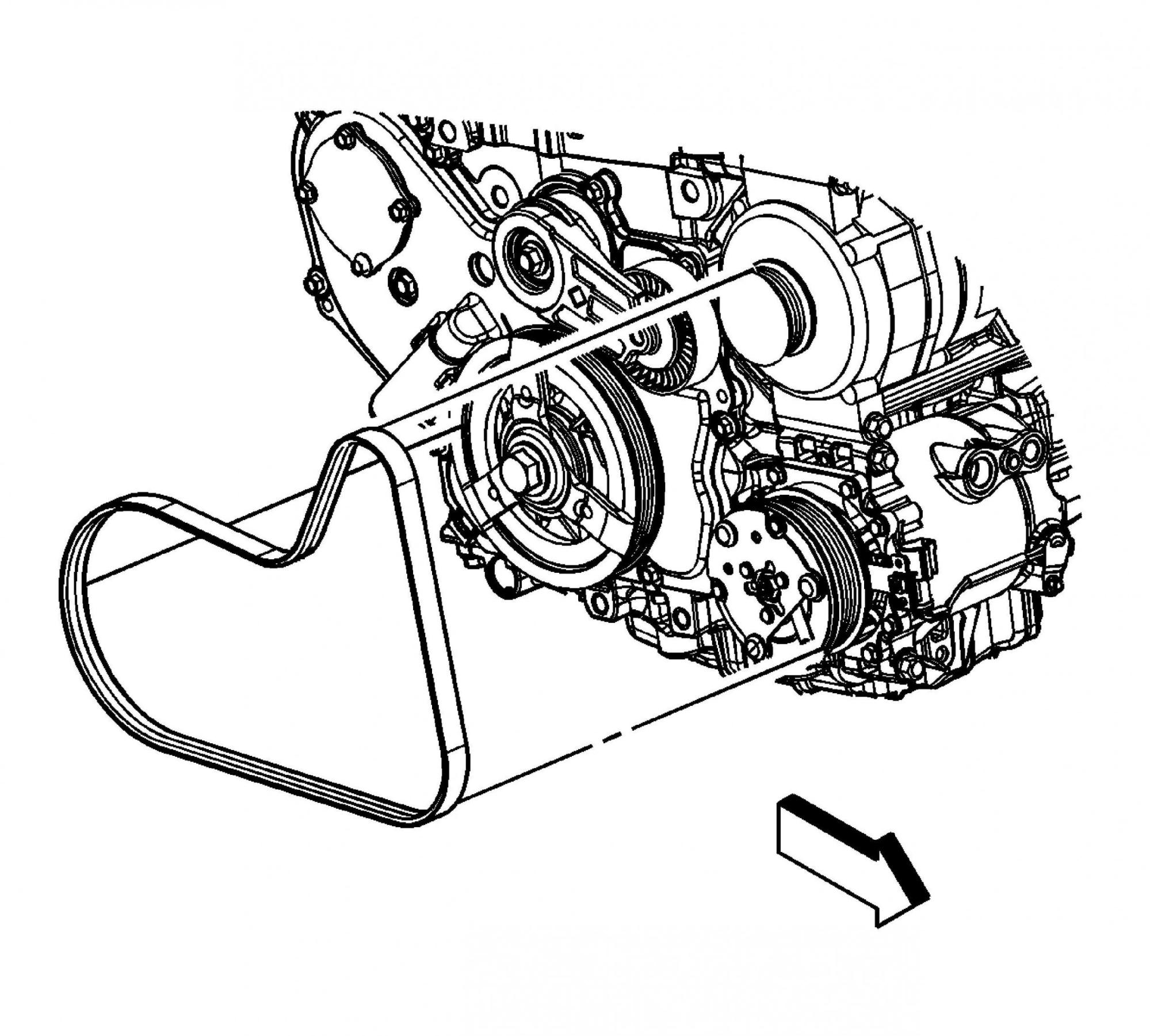 hight resolution of chevy 2 4 engine serpentine belt diagram wiring diagrams bib chevrolet 3 4 engine serpentine belt