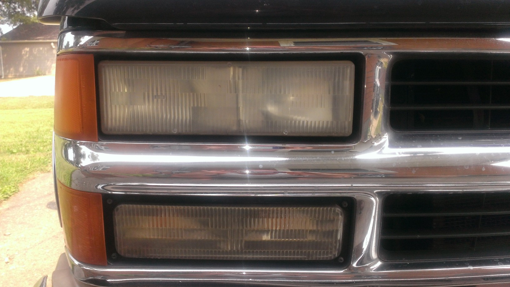 hight resolution of 1996 silverado headlight upgrade closeupoflight jpg