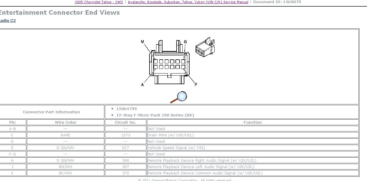 Diagram 2005 Chevy Cobalt Radio Wiring Diagram Database