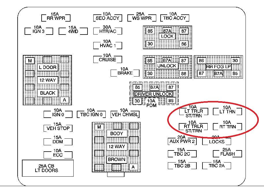 3307d1307071936 factory trailer wiring problem 2004 fuse panel?resize\\d665%2C478 2004 silverado wiring diagram efcaviation com 2004 silverado fuse box diagram at eliteediting.co