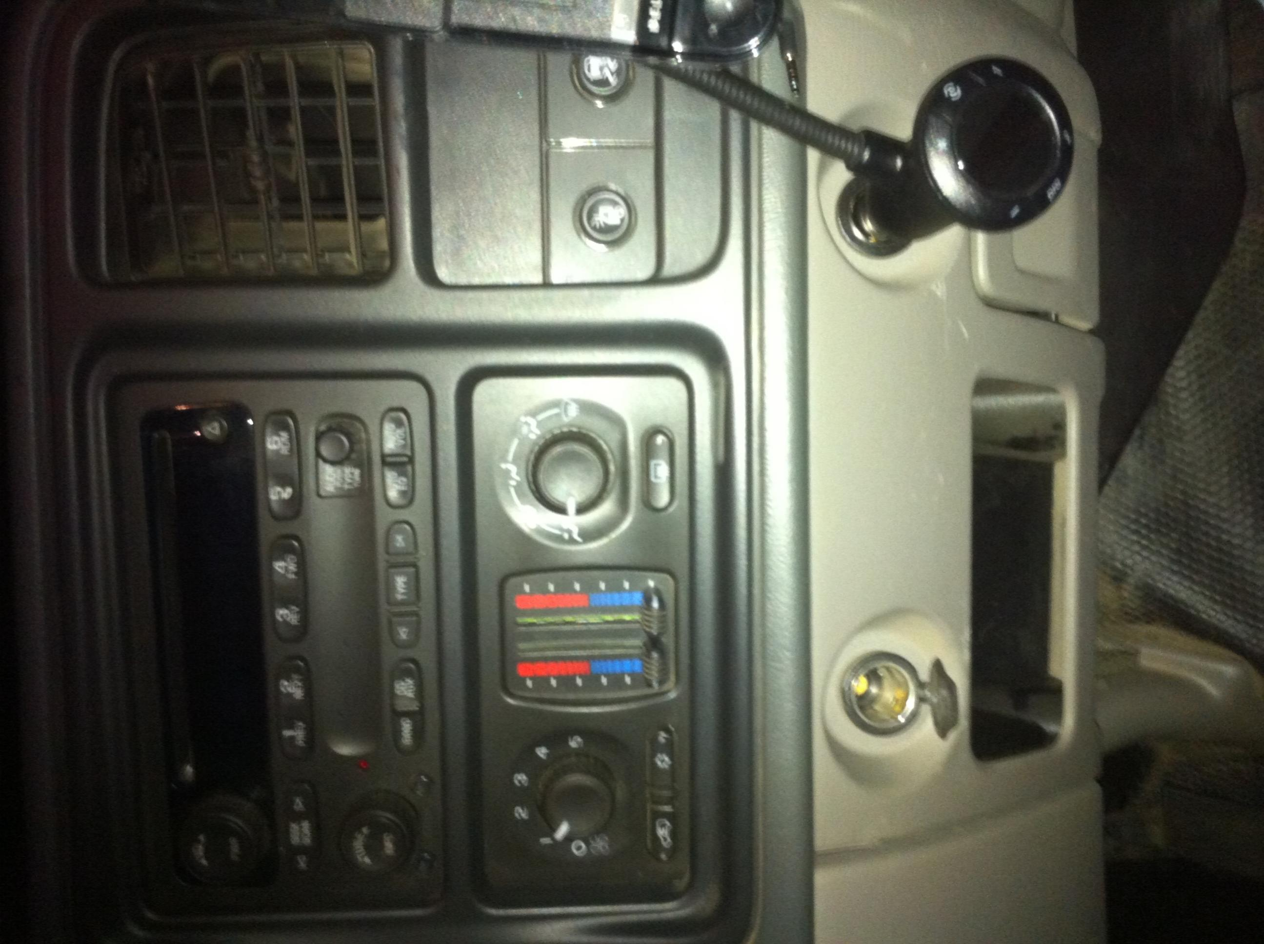 Console Chevrolet Rear Center Tahoe