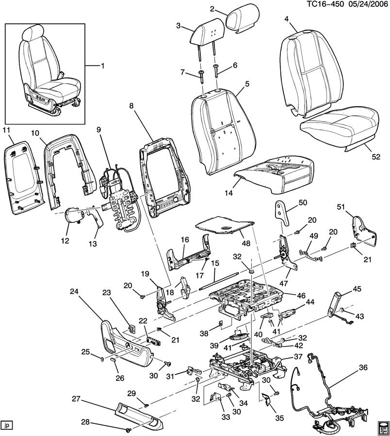 2007 Chevy Silverado Jump Seat Latch Replacement NEW Chevy