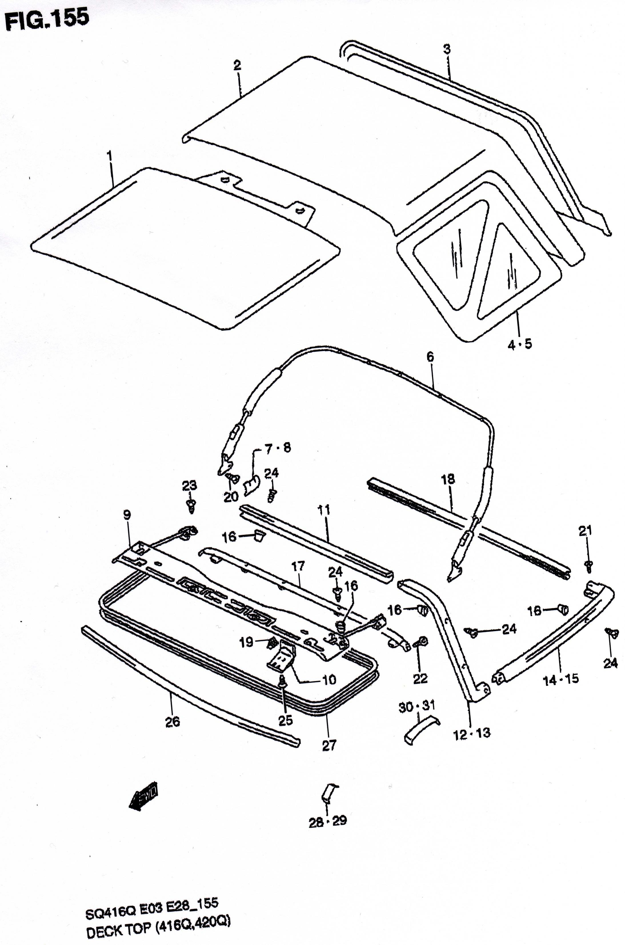 Geo Tracker Soft Top Parts Diagram, Geo, Get Free Image