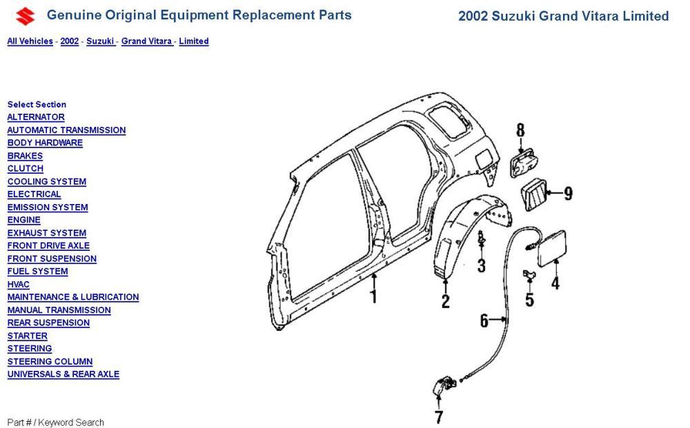 medium resolution of 2000 tracker fuel door spring panel diagram jpg
