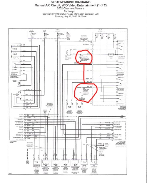 small resolution of chevy cooling fan relay wiring wiring diagram structure electric fan relay wiring diagram for 2002 chevy cavalier