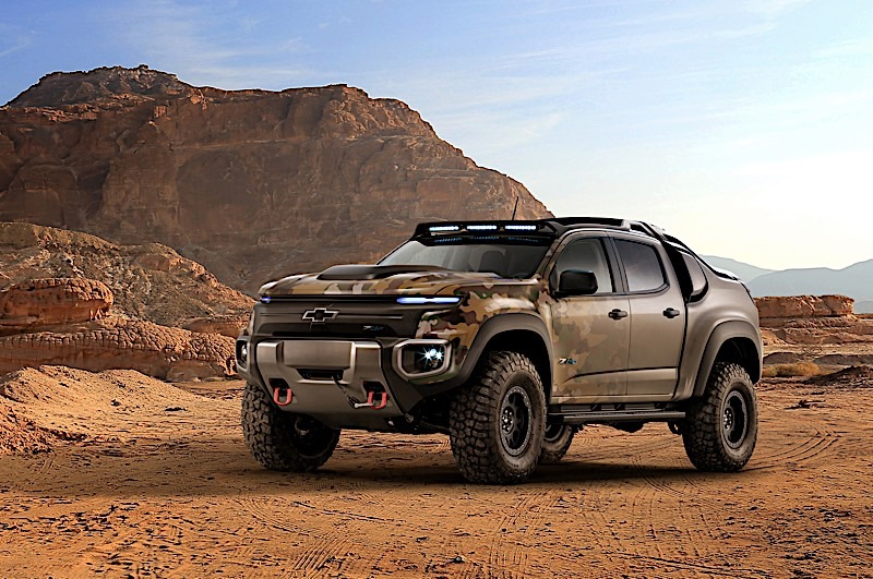 Chevrolet Colorado ZH2 fuel cell electric vehicle