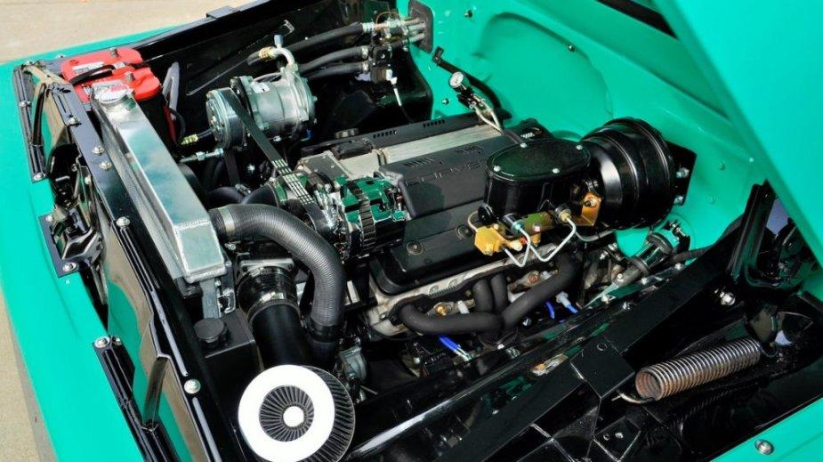 1960 Chevrolet C10 Engine Angle
