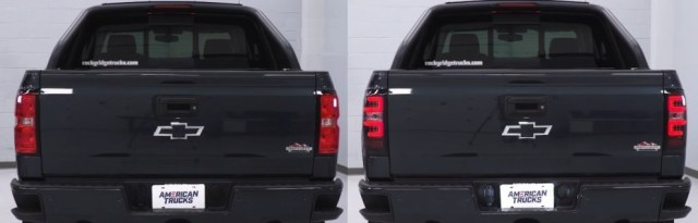 Silverado LED Taillight Install Before and After