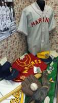 The road gray Marines baseball jersey in the back of this display was my very first item that I purchased for this collection.