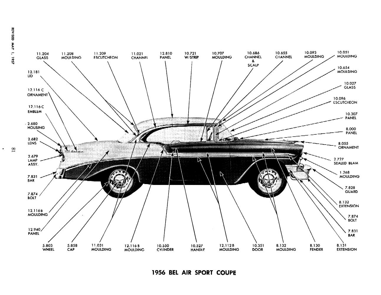 1957 Chevy Parts Manual