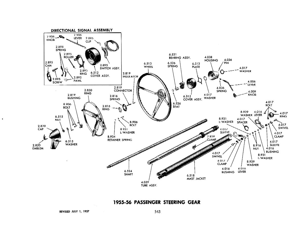 Wiring Diagram 1955 Chevy Ignition Switch