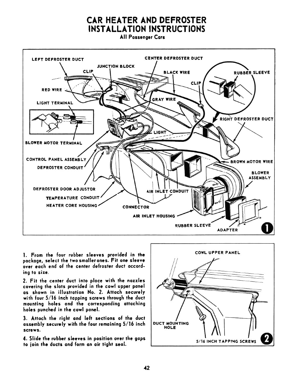 1955 Chevrolet Passenger Car Accessories Installation