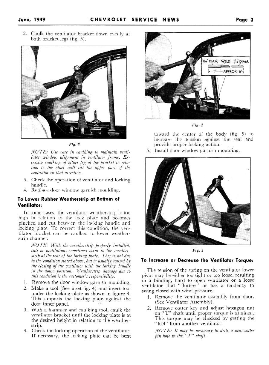 1949 Chevrolet Service News