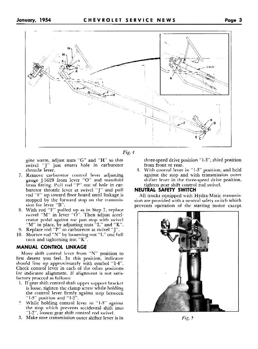 1954 Chevrolet Service News