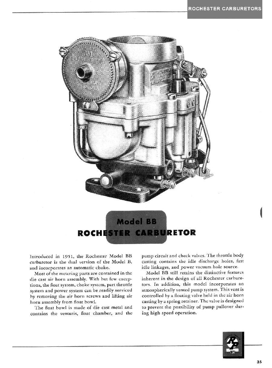 1951 Rochester Carburetors