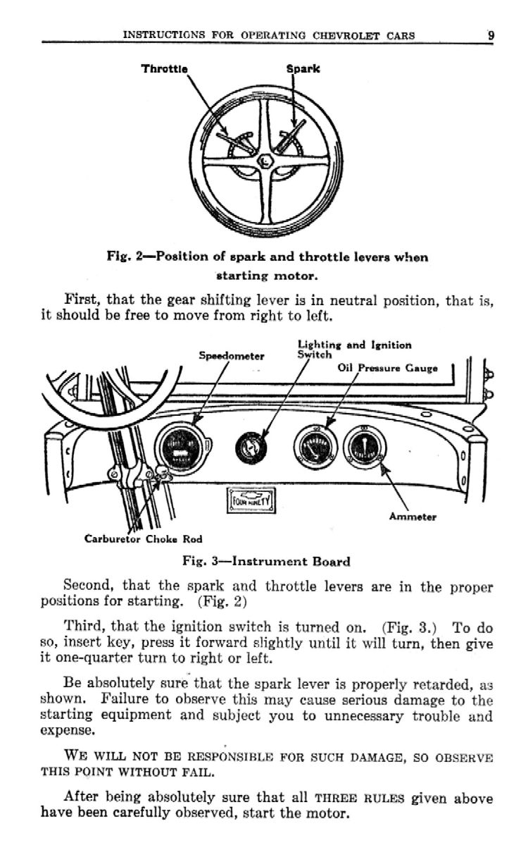 1923 Chevy Owner's Manual