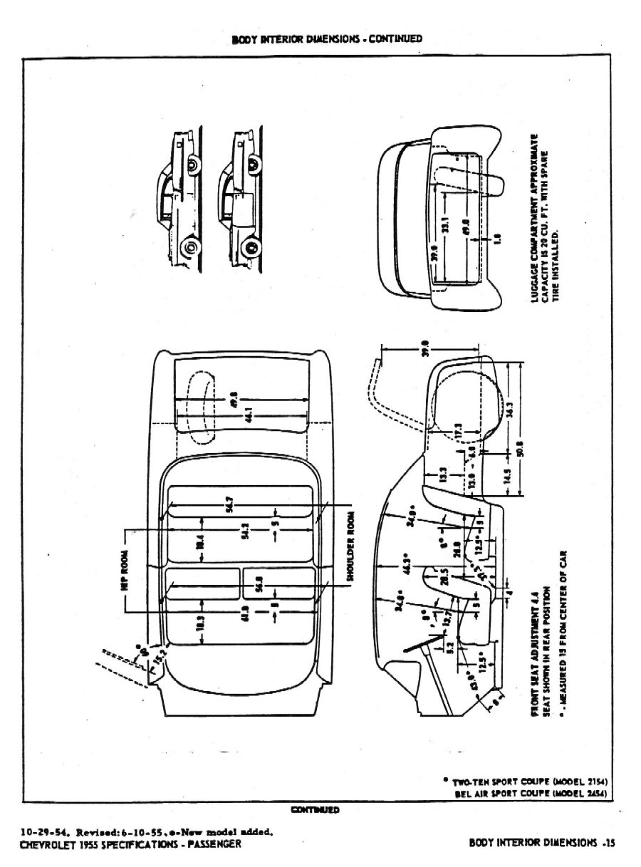 1955 Chevrolet Specifications
