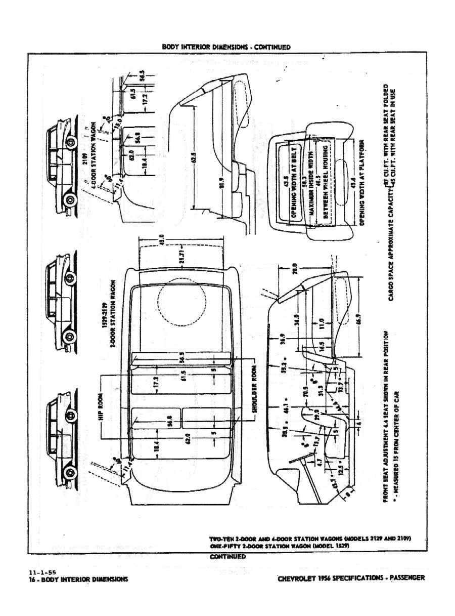 1956 Chevrolet Specifications