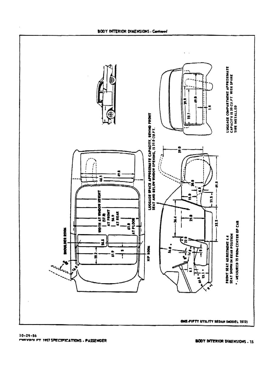 1957 Chevrolet Specifications
