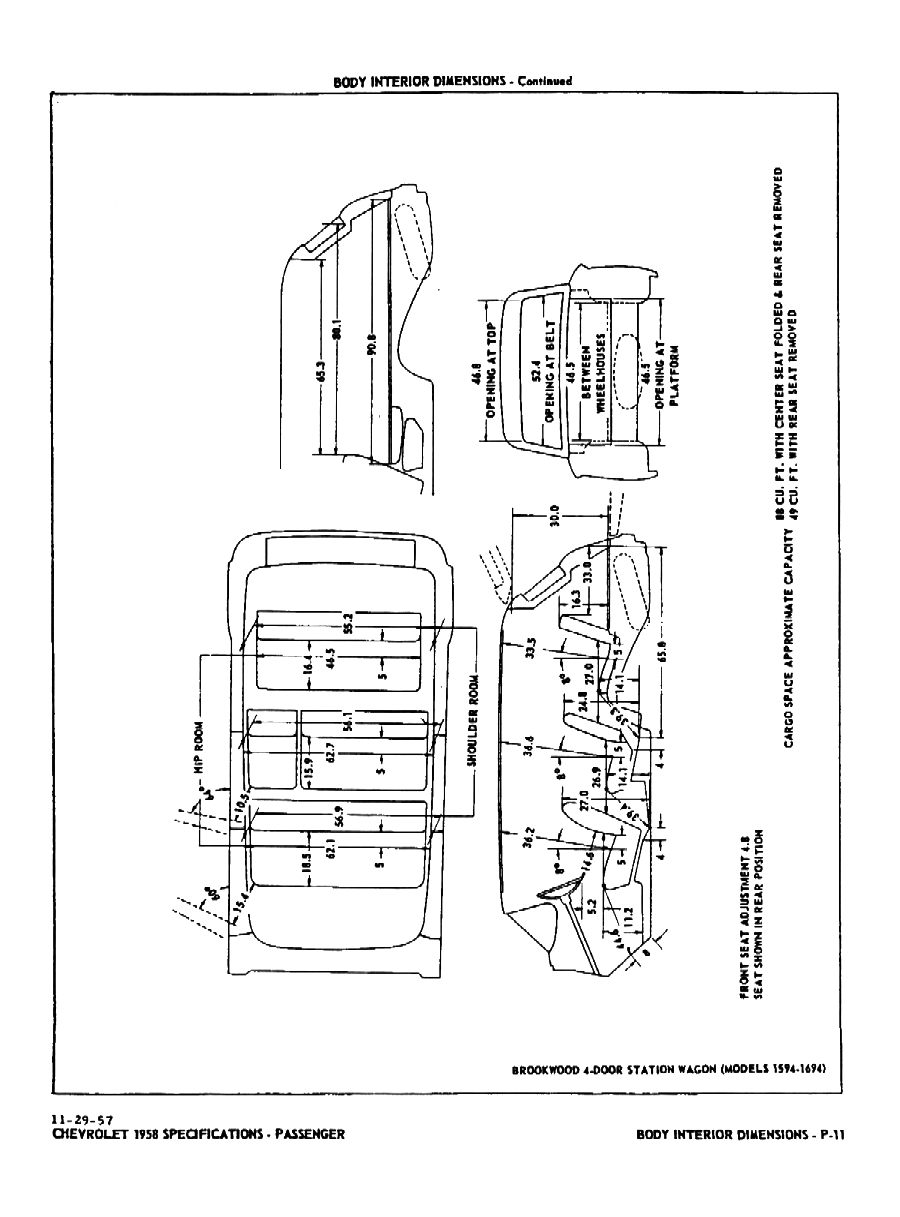 1958 Chevrolet Specifications