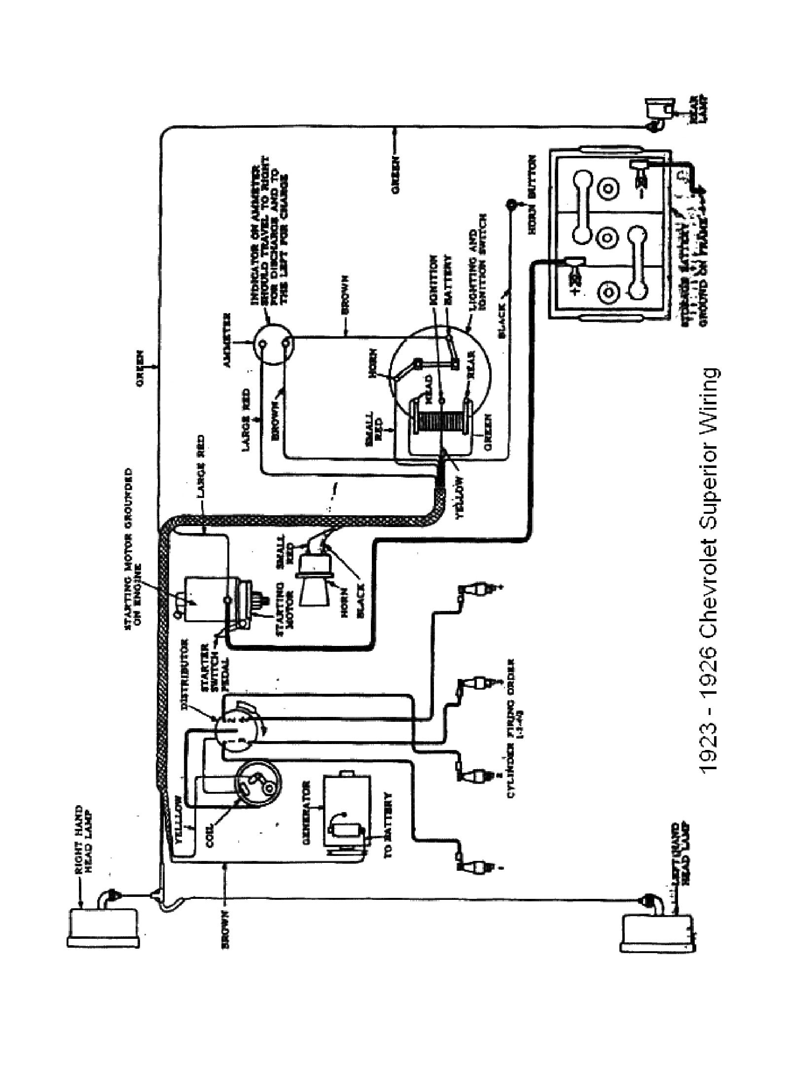 Buick Wiring Diagram Of 1923 1924 Model 4 Delco Equipment