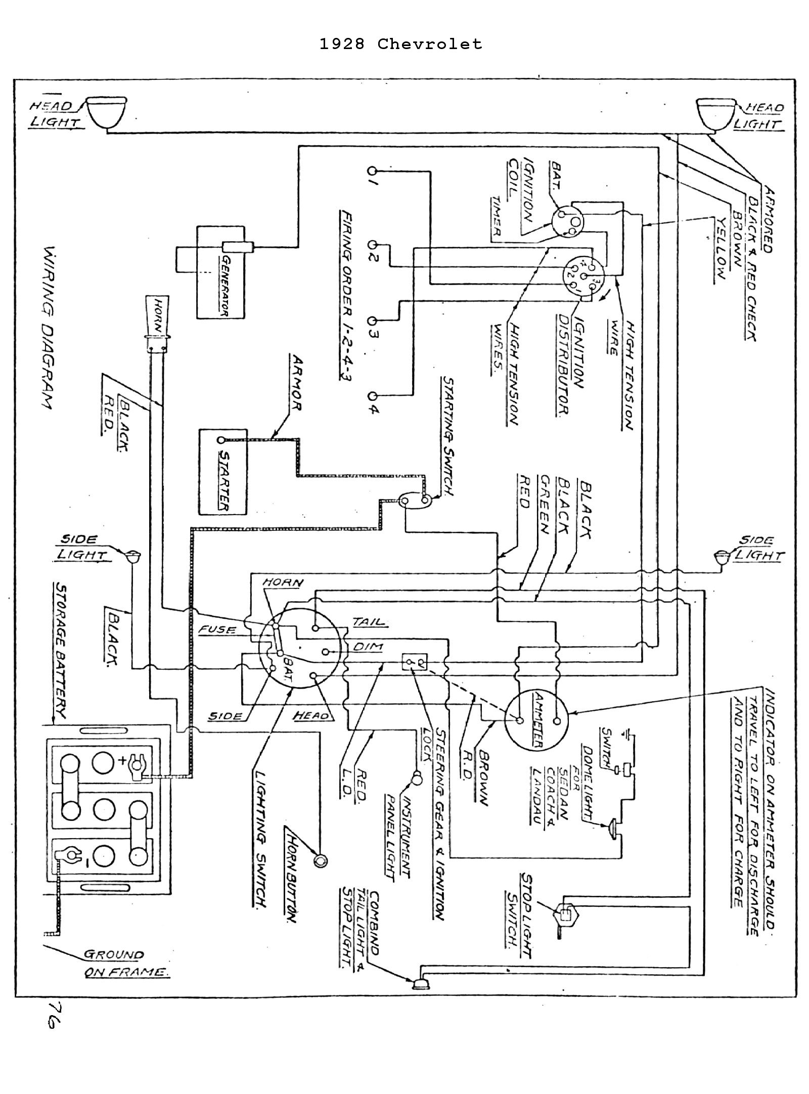 chevrolet wiring diagram flat 4 1931 get free image about