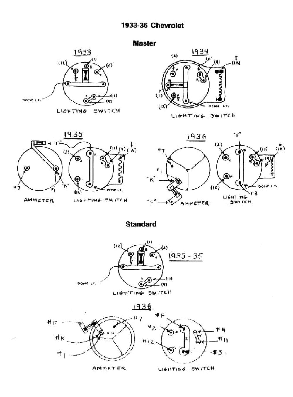 medium resolution of 1935 1936 1935 36 switches 1935 36 switches chevy wiring diagrams