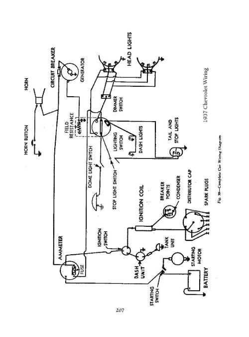 small resolution of  1937 passenger car wiring