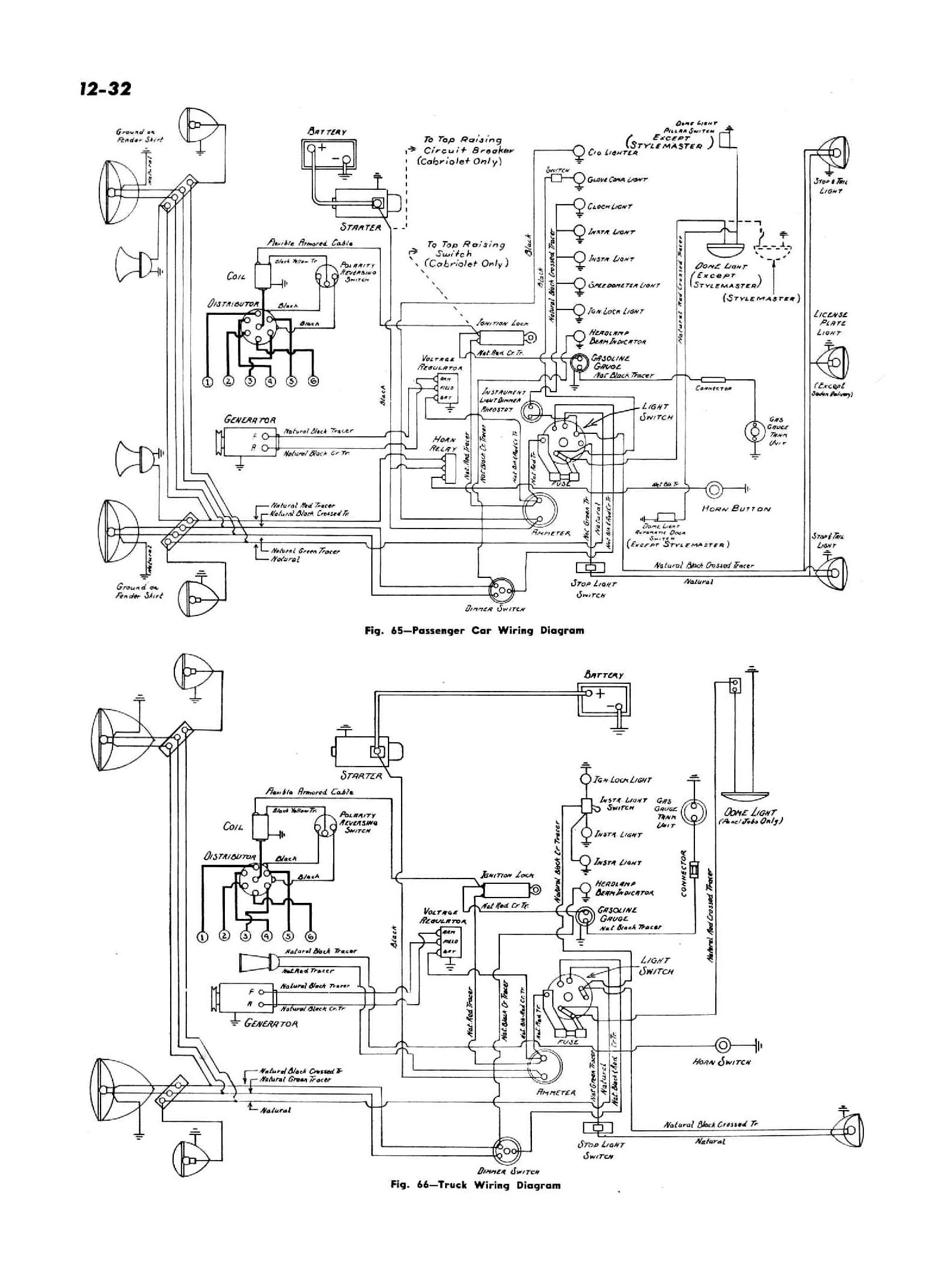 hight resolution of 1947 passenger car truck wiring