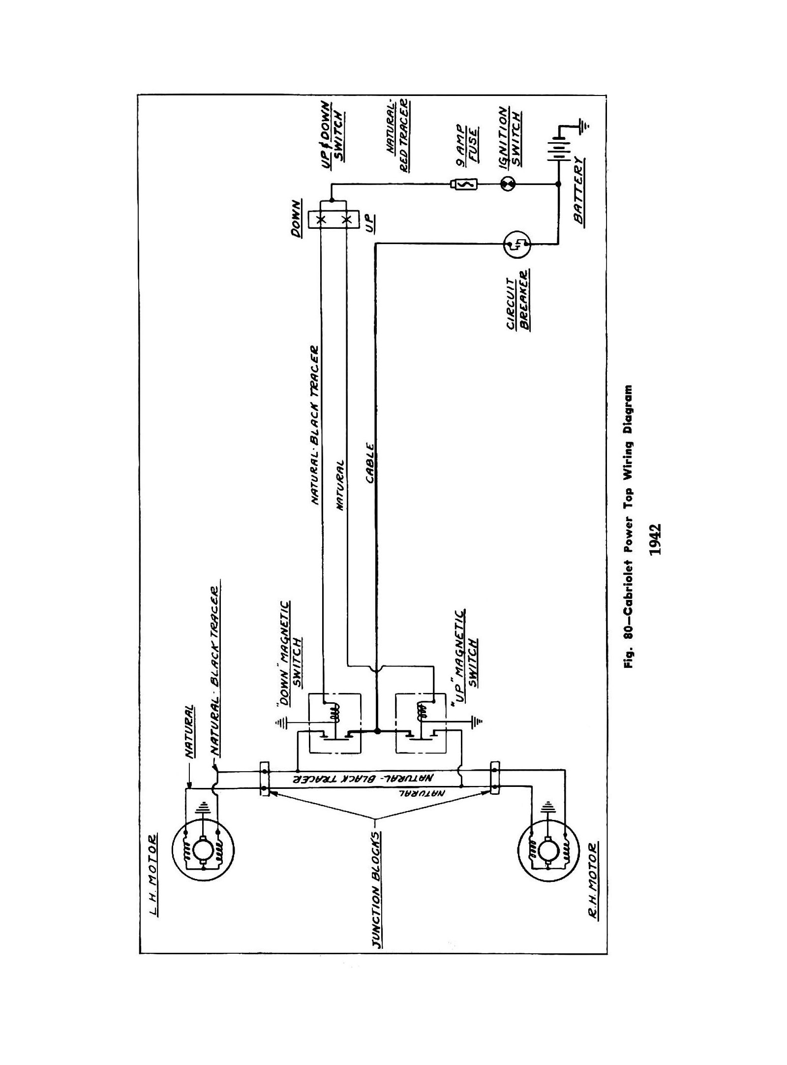 power top wiring diagram for 1942 chevrolet cabriolet