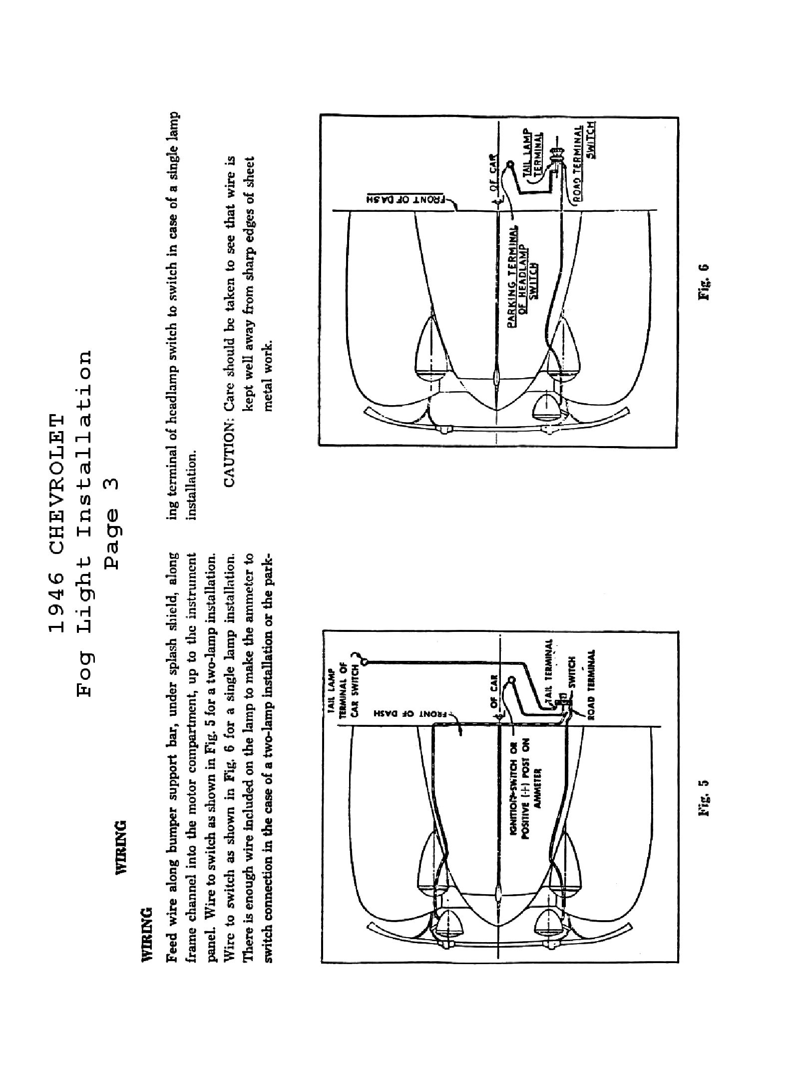 fog lamp wiring instructions
