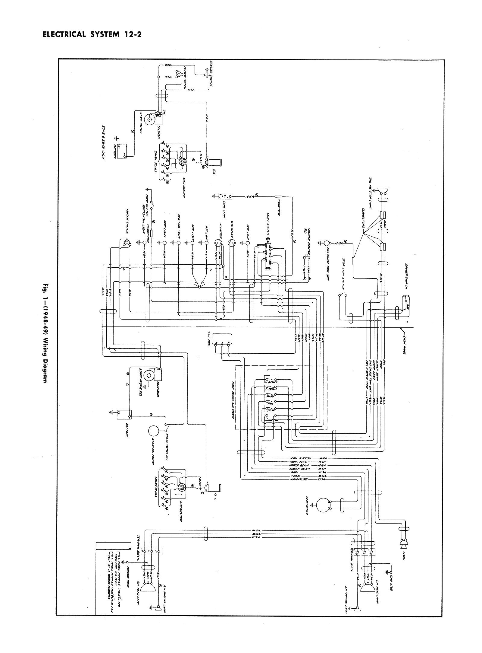 1950 chevy pickup wiring diagram