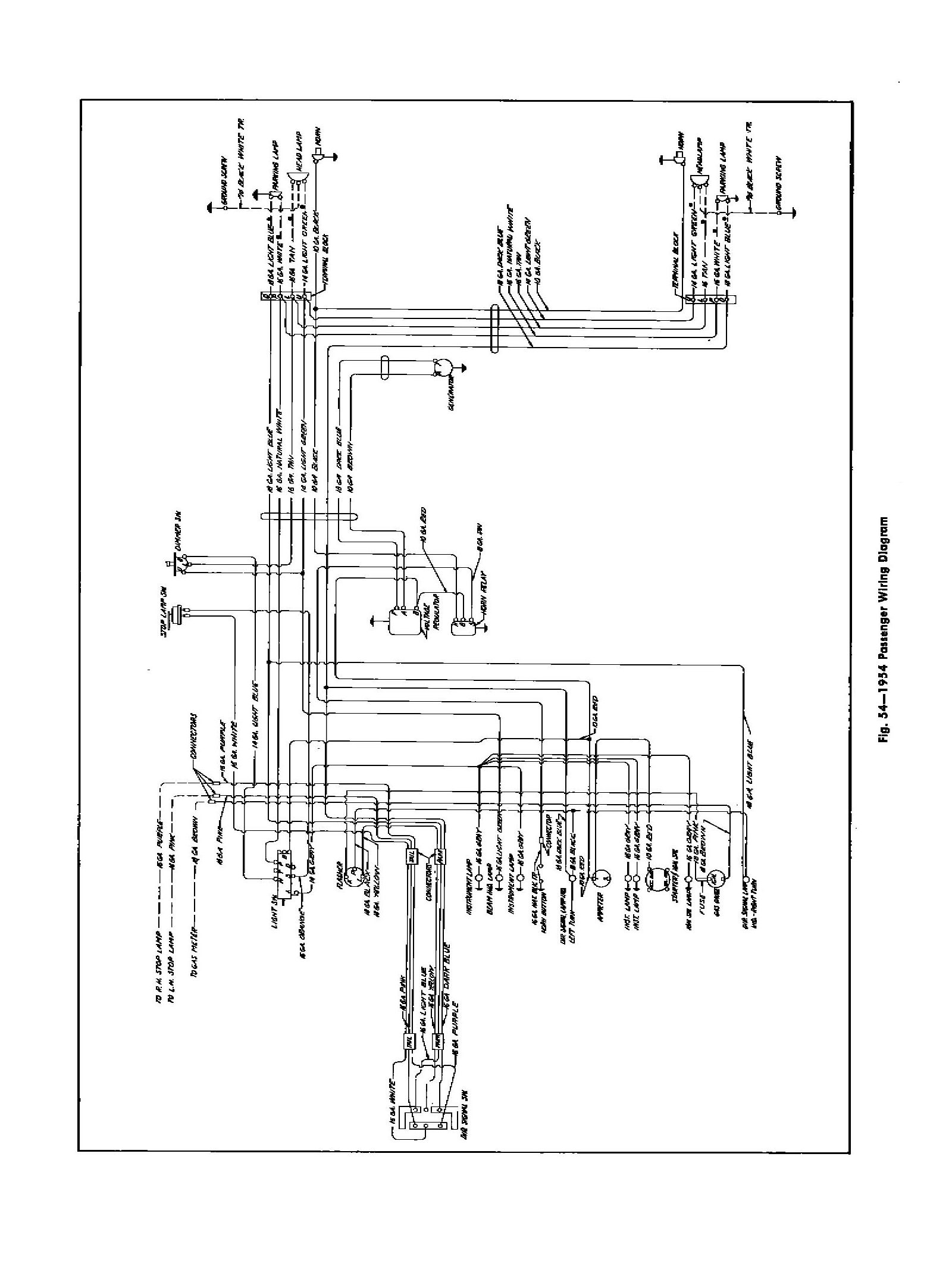 1954 Chevrolet Wiring Diagram For Car, 1954, Free Engine