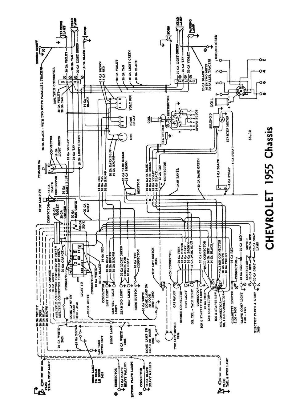 medium resolution of 1955 truck wiring diagrams 1955 passenger car wiring 2